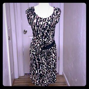 Kische Boutique Animal Print Straight Dress